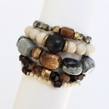 Mix|Stack|Blend|Layer|Collect  Here's your inspo for everyday wear to mix with your faves, or stack a bunch for instant pop! Are you FALLING for it? The Nature Seeker power pack has you mixing things up! Update NOW by adding it to this seasons rotation for instant style and texture. A mix of 5 bracelets.