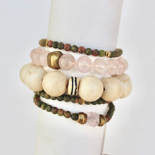 Mix|Stack|Blend|Layer|Collect  Here's your inspo for everyday wear to mix with your faves, or stack a bunch for instant pop! Are you FALLING for it? The Change Seeker power pack has you mixing things up! Update NOW by adding it to this seasons rotation for instant style and texture. A mix of 5 bracelets.