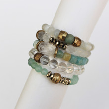 Mix|Stack|Blend|Layer|Collect  Here's your inspo for everyday wear to mix with your faves, or stack a bunch for instant pop! Are you FALLING for it? The Strength Seeker power pack has you mixing things up! Update NOW by adding it to this seasons rotation for instant style and texture. A mix of 5 bracelets.
