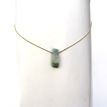 Dreamy Days ahead with this soothing Amazonite necklace. Chain adjusts up to 18 inches. Chain = sterling silver