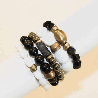 Mix Stack Blend Layer Collect  Crafted to inspire - here's your inspo for everyday wear to mix with your faves, or stack a bunch for instant pop and EXTRA energy BOOST for the day. Stretch Bracelets. 7inches in length. Limited Design. All sales are final due to COVID.