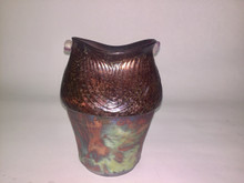 Multicolored raku