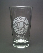 Cthulhu Celtic Knot Beer Glass