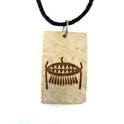 Esoteric Order of Dagon coconut shell pendant