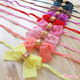 VELVET BOW NECKLACE