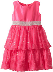 Rare Editions Big Girls'  Sequin Tiered Dress, Fuchsia - 9 - 11 Yrs