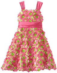 Rare Editions Big Girls' Shantung Waistband Soutach Dress