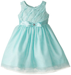 Jayne Copeland Big Girls' Ruffle Sequins-Mesh Dress