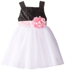SWEET HEART ROSE Little Girls' Sequin Bodice with Tulle Skirt ( 1 - 3 Yrs)
