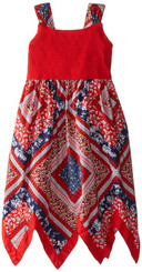 Blueberi Boulevard Little Girls'  Hanky Sundress