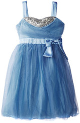 Ruby Rox BIG GIRLS' TULLE AND BEAD PARTY DRESS - 5/6Years