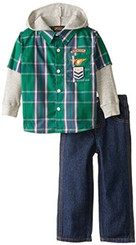 Boyz Wear Baby Boys 2Pc Woven Pant Set with Hooded Thermal Twofer - 1/2Yr
