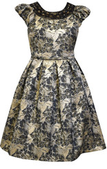 Bonnie  Jean Girls All Over Brocade Dress 3yrs