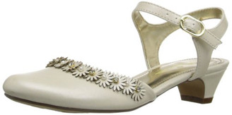 Nina Girls Dayanna Quarter Strap Dress Shoe ( Cream ) - Big Kids
