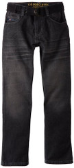 U.S. Polo Assn. Boys Belted Slim Straight 5 Pocket Denim Jeans - 8yrs