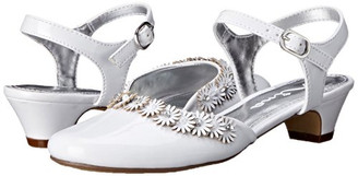 Nina GIRLS DAYANNA QUARTER STRAP DRESS SHOE ( WHITE ) - US2/Euro33