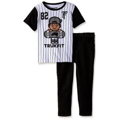 TRUKFIT Toddler Boys 2 Piece Short Sleeve Tee and Pants Sets - Toddler