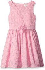 The Children's Place Girls' Eyelet Flare Dress - 2/3Yrs
