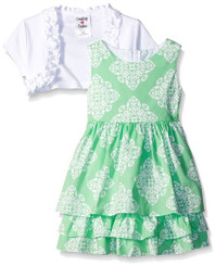 Counting Daisies Little Girls' Toile Cotton  Dress - 3/4Yrs