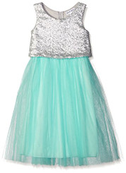 Emerald Sundae Girls' Ballet Mesh Skirt and Sequin Pop-Over Dress ( 7-16 )