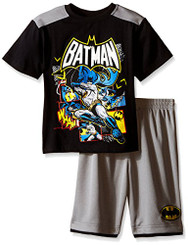 DC COMICS Little Boys' Batman  2 Pc Short Set - 3Yrs