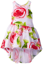 Bloome Girls  Asymmetrical Dress with High-Low Hemline - Girls 7-16