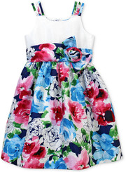 Jayne Copeland GIRLS' FLORAL PRINT DRESS - 7Yrs