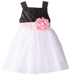 SWEET HEART ROSE LITTLE GIRLS' SEQUIN BODICE WITH TULLE SKIRT -9mths