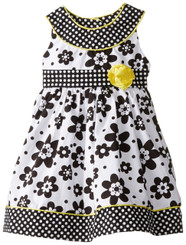 Nannette GIRLS FLORAL PRINTED POPLIN DRESS - 2Yrs