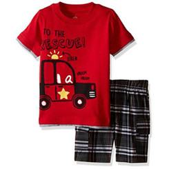 Kids Headquarters Baby Boys To The Rescue 2 Piece Set - 9/12Mths