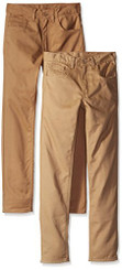 American Hawk Boys 2 Pack Twill Pants, KhakiLight Khaki - Boys 7-20