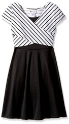 Youngland Toddler Girls  Criss Crossed Ponte Fashion Dress