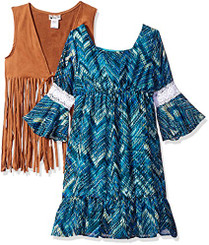 Emily West Big Girls' 2 Pc Dress Set. - 6-7Yrs