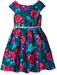 Bloome Girls  Special Occasion Dress with Rhinestone Waist. - Girls 5/6Yrs
