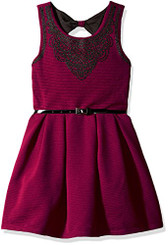 Beautees Girls Skater Dress Withcavier Beads - 7/8Yrs