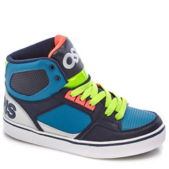 Osiris BOYS  LEATHER HIGH TOP SNEAKERS ( Blue ) - US5 (Eu 37)