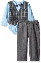 Little Lad Baby Boys' 2 Piece Faux Vest Bodysuit Pant Set.