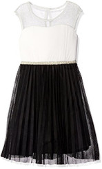 Speechless Girls  Illusion Neck Sleeve Mesh Bottom Dress - 7/8 Yrs