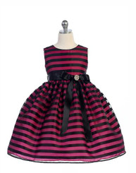 Crayon Kids Toddler Girls Kids Striped Dress - 3/4Years