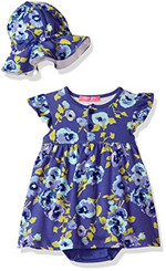 Isaac Mizrahi Baby Girls' 2 Piece Sundress with Sunhat - 9/12M