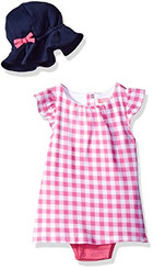 Isaac Mizrahi Baby Girls' 2 Piece Sundress with Sunhat - Pink