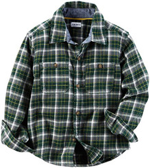 carter's Boys' Toddler Woven Buttonfront - Green - 4Yrs