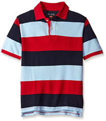 The Children's Place Boys Striped Pique Polo Shirt - 5/6Yrs