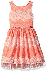 Speechless Girls' Chevron Lace Dress - 5/6Yrs
