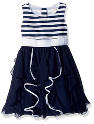 Emily West Girls Striped Bodice Corkscrew Party Dress - 8-9Yrs