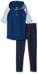 American Hawk Boys Hooded T-shirt and Jeans Set - Boys 4-6