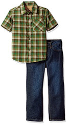 Lee Boys  2 Piece Short Sleeve Button up Shirt Set - 4yrs
