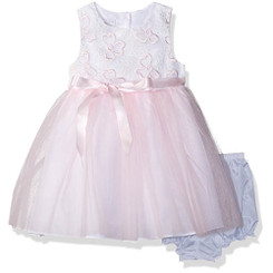 Marmellata Baby Girl Ballerina Party Dress With Ribbon at Waist - 12-18M