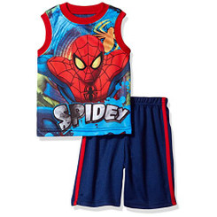 Spiderman Short Set With Tank Tee 5Yrs