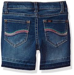 Lee Little Girls' Released Hem Short, Blue Stone -3Yrs
